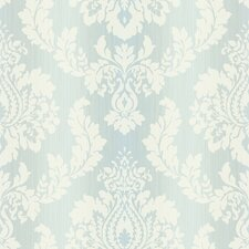 <strong>Brewster Home Fashions</strong> Springtime Cottage Ombre String Damask Wallpaper
