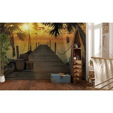 <strong>Brewster Home Fashions</strong> Komar Treasure Island Dock Wall Mural