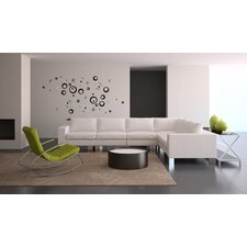 Euro Black Circles Wall Decals