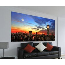 Euro City Sunset Panoramic Wall Decals