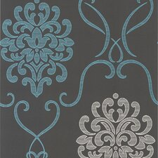 <strong>Brewster Home Fashions</strong> Accents Suzette Modern Damask Wallpaper