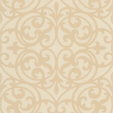 <strong>Brewster Home Fashions</strong> Decadence Sonata Ironwork Damask Wallpaper