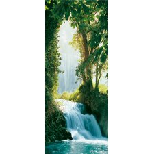 <strong>Brewster Home Fashions</strong> Ideal Decor Zaragoza Falls Wall Mural