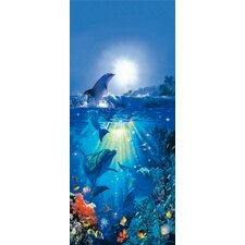 <strong>Brewster Home Fashions</strong> Ideal Decor Dolphin in the Sun Wall Mural