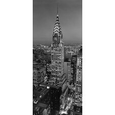 Ideal Decor Chrysler Building Door Wall Mural