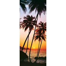 Ideal Decor Sunny Palms Wall Mural
