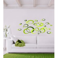 Euro Green Ovals Wall Decals