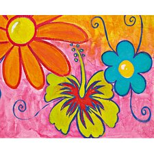 <strong>Brewster Home Fashions</strong> Ideal Decor Spring Flowers Wall Mural