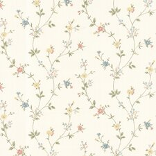 <strong>Brewster Home Fashions</strong> Dollhouse Deanna Trail Floral Botanical Wallpaper