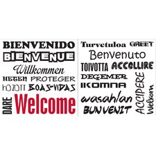 Home Décor Welcome Wall Decal