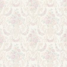 Juliette Phebe Floral Urn Damask Embossed Wallpaper