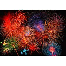 Ideal Décor Fireworks Wall Mural