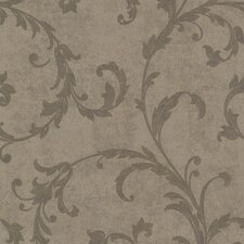 <strong>Brewster Home Fashions</strong> Buckingham Milton Shimmer Scroll Wallpaper