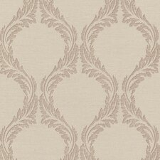 <strong>Brewster Home Fashions</strong> Buckingham Blake Ogee Floral Wallpaper