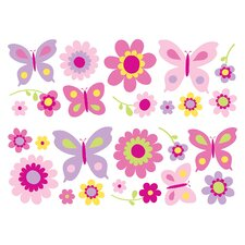 Fun4Walls Stikarounds Flowers and Butterflies Wall Decal