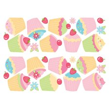 <strong>Brewster Home Fashions</strong> Fun4Walls Stikarounds Cupcake Wall Decal