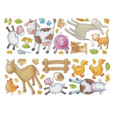 <strong>Brewster Home Fashions</strong> Fun4Walls Stikarounds Farm Wall Decal