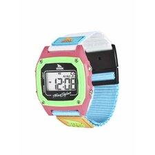 Shark Clip Watch in Black / Neon