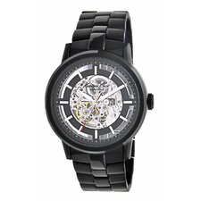 <strong>Kenneth Cole</strong> Men's Round Bracelets Watch in Black