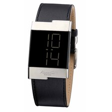 Men's Straps Digital Watch in Black
