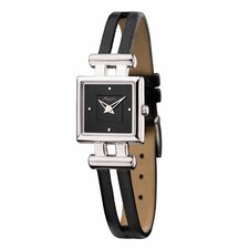 Women's Straps Classics Square Watch in Black