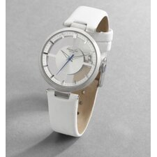 Women's Straps Transparency Watch in Silver White