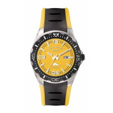 Men's Beach Cruiser Watch in Yellow and Black