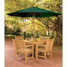 Classic Patio 6 Piece Dining Set with Umbrella
