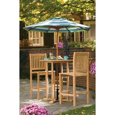 <strong>Oxford Garden</strong> Sonoma 3 Piece Bar Height Dining Set