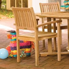 <strong>Oxford Garden</strong> Warwick Stacking Dining Arm Chairs (Set of 2)