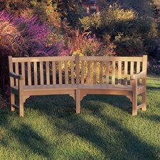 Essex Curved Wood Garden Bench