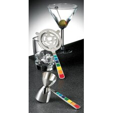 Masquerade 2-Piece Cocktail Strainer and Jigger Set