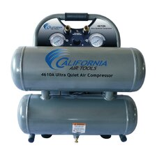 4.6 Gallon Ultra Quiet and Oil-Free 1.0 HP Aluminum Twin Tank Air Compressor