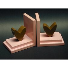 Heart Book Ends (Set of 2)