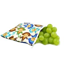 Snack Happened Reusable Snack Bag in Funky Monkey Remix