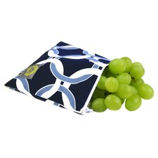 Snack Happened Reusable Snack Bag in Social Circle Blue