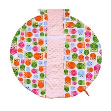 Wrap and Roll Infant Carrier Hoot Arm Pad and Tummy Mat