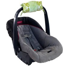 Ritzy Wrap Infant Avocado Damask Car Seat Handle Cushion