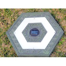 Solar Power Hexagonal Stepping Stone (Set of 3)