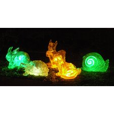 Solar Changing Color Assorted Animal (Set of 5)