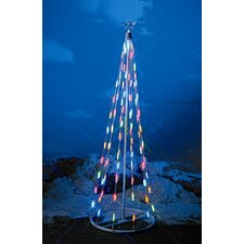 <strong>Homebrite Solar</strong> String Light Christmas Cone Tree