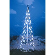 "49"" String Light Christmas Cone Tree in White"