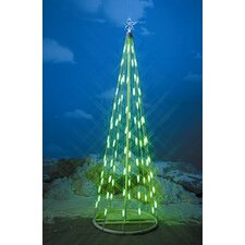 String Light Christmas Cone Tree in Green