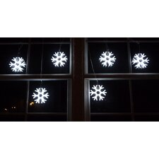 <strong>Homebrite Solar</strong> Gaint Snowflakes String Light in White
