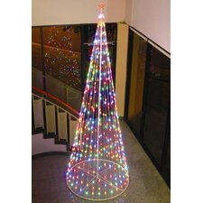 <strong>Homebrite Solar</strong> String Light Cone Tree in Multi-Color