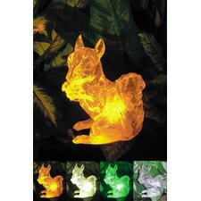 Solar Squirrel with Color Change Lighting