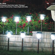 Solar Power Olympus Path Light (Set of 8)