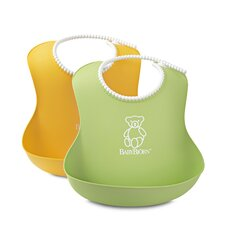 Soft Bib Two Pack in Sunflower Yellow and Spring Green