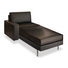 <strong>Elemental Living</strong> Landeeca Leather Chaise