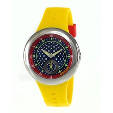 <strong>Appetime</strong> Remix Ladies Watch with Yellow Band
